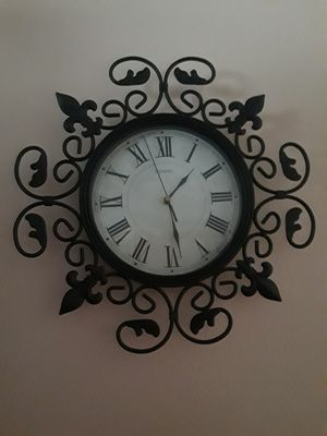 Wall clock and chandelier for Sale in Tacoma, WA