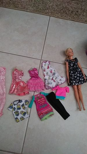 Barbie clothes and doll for Sale in Tarpon Springs, FL