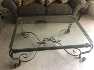 Glass coffee table with end table for Sale in NORTH PENN, PA