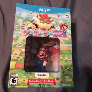 Mario Party 10 With Mario Amiibo for Sale in Deer Park, TX