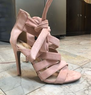 ROSE PINK HEELS - SIZE 7/8 WOMENS for Sale in Houston, TX