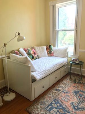 White twin day bed with mattress/topper for Sale in Washington, DC