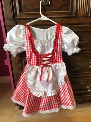 Toddler girl costume Little Red Riding hood. Nothing wrong with it. Daughter grew out of it. Comes with the red cape. for Sale in Tampa, FL