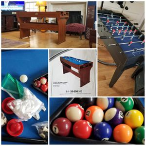 Game Tables for the holidays Pool table and Foosball Table for Sale in Hillsborough, NC