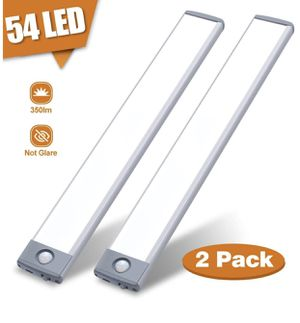 Motion Sensor Closet Light 54 LED Under Cabinet Night Lighting, 2500mAh Rechargeable Ultra Thin Magnetic Closet Lighting, 350lm Homelife Led Lights f for Sale in Winter Garden, FL
