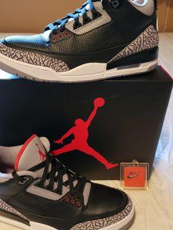 Jordan 3 Black Cement for Sale in Lynnwood,  WA