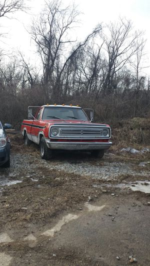 1973 Dodge half ton pickup truck 2 wheel drive 8 foot bed Runs good brakes need bled. Possibly a battery for Sale in Washington, PA