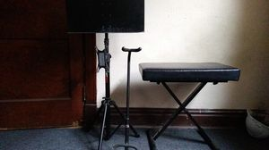 Music stand, guitar stand, keyboard seat for Sale in St. Louis, MO