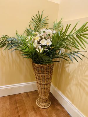 Tall vase with flowers for Sale in Annandale, VA