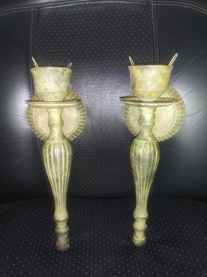 A pair of candle sconces. 11 inches tall. for Sale in Apopka, FL