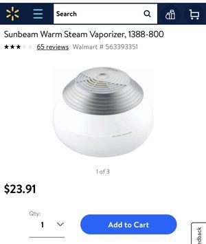 sunbeam warm steam air humidifier for Sale in Midlothian, VA
