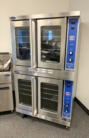 Double stacked bakery depth commercial convection gas ovens for Sale in Kent, WA