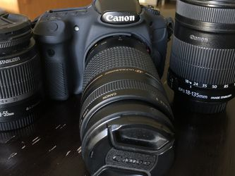 Canon 60d With Lenses And Extra Batteries for Sale in San Jose,  CA