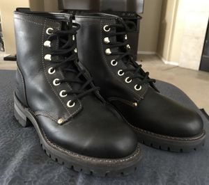 King Rocks Black Leather Workboots for Sale in Corona, CA