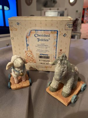 Cherished Teddies Sheep/Donkey Pull Toy Nativity Figurine 1993 #912867 By Enesco for Sale in Chula Vista, CA