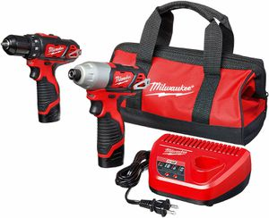 Milwauke m12 DRILL Driver and Impact Drill with batteries and charger for Sale in Mission, TX