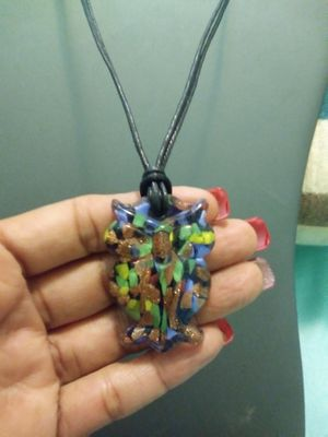 New glass colorful owl pendant necklace for Sale in Yonkers, NY