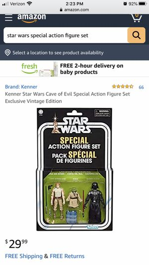 New Kenner Star Wars Cave of Evil special action figure set, collectible for Sale in Pinellas Park, FL