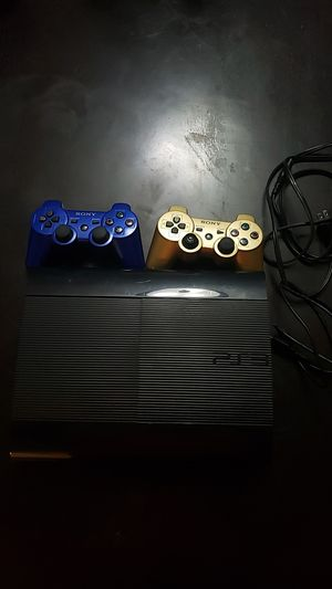 Playstation slim 3 with 2 controllers for Sale in Manassas, VA