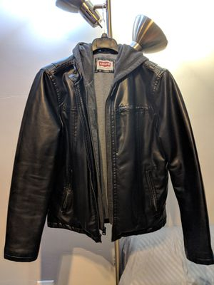 Levi's Hooded Leather Jacket for Men, Medium for Sale in Chicago, IL