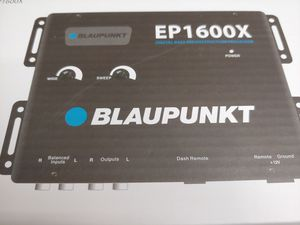 Car audio system : blaupunkt digital bass processor & Scosche 6 feet rca jack ( brand new price is lowest shipping available ) for Sale in Huntington Park, CA