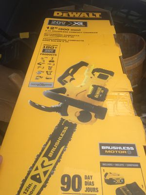 DeWalt XR chainsaw with charger and 5AH battery new for Sale in Saratoga, CA