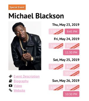 Michael Blackson tickets for Sale in Gaithersburg, MD