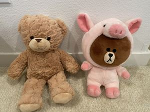 Plush Teddy bear anfd Line friends Brown for Sale in El Monte, CA