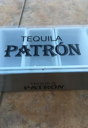 Tequila patron bar container display garnish plus 17 1/2 inches for Sale in Chula Vista, CA