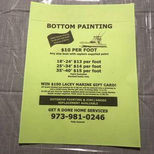 Bottom Painting Save By Booking Date By 2/28/21 for Sale in Stafford Township, NJ