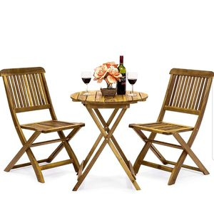 BRAND NEW 3 Piece Patio Set Outdoor Furniture Wood for Sale in Sarasota, FL