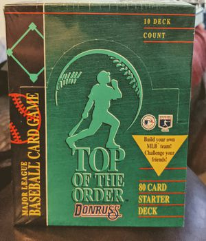 1995 Donruss Top of Order Baseball Card Game for Sale in Sacramento, CA