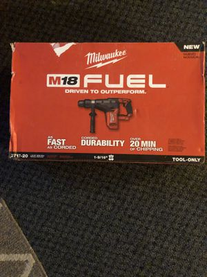 Milwaukee m18 fuel 1 9/16 SDS max rotary hammer drill for Sale in Worcester, MA
