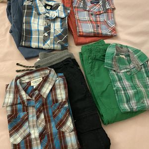 Boys long sleeve shirt and pants 6-7 years old 4pairs $40 for pick up only Thursday Friday Saturday Sunday Monday 3-6pm for Sale in Los Altos, CA