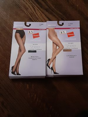 Hanes premium, silky sheer pantyhose for Sale in Chicago, IL