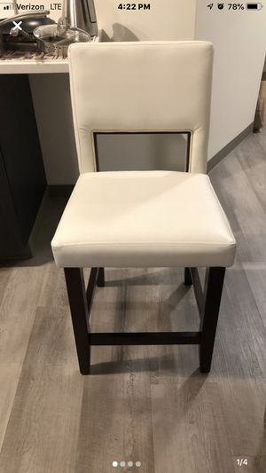 White Counter stool set of 2 for Sale in Penn Hills, PA