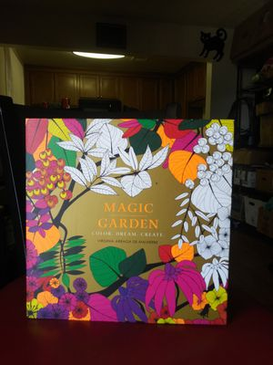 Magic garden adult coloring book for Sale in Phoenix, AZ