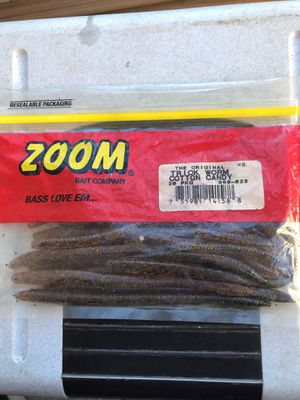 Zoom trick worm cotton candy lure bait fishing for Sale in Greensboro, NC