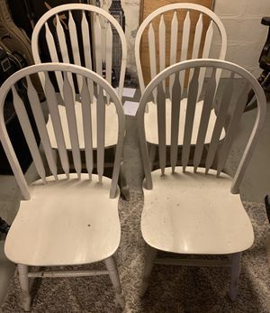 4 gray wooden chairs. for Sale in Tacoma, WA