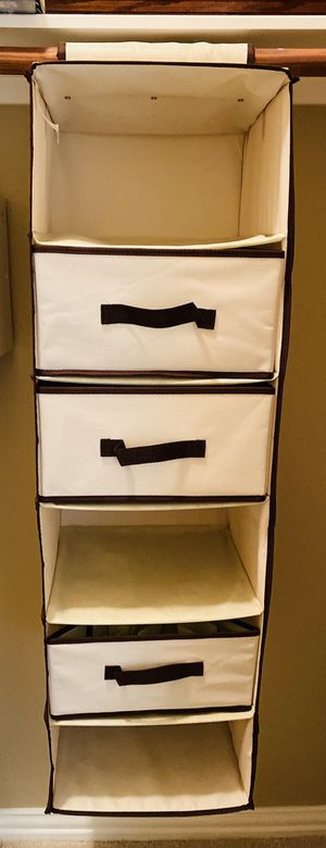 6-shelves hanging closet organizer for Sale in Fort Worth, TX