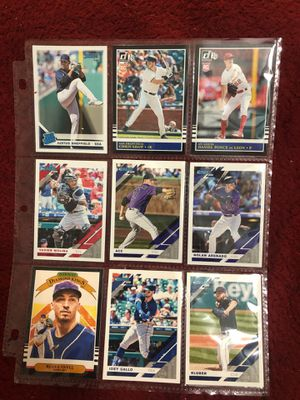 lot#1 2019 donruss lot 9 baseball cards includes rookies stars and variations nick names all for $2 for Sale in Calverton, MD