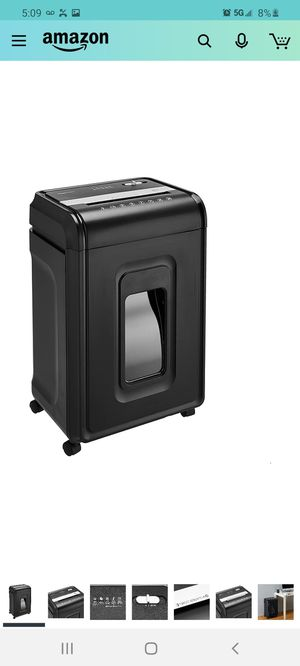 AmazonBasics 24-Sheet Cross-Cut Paper, CD and Credit Card Home Office Shredder with Pullout Basket for Sale in City of Industry, CA