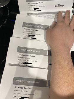 Six Flag Tickets for Sale in Rowlett,  TX