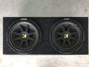 Kickers Subwoofers Black Car Audio Speakers for Sale in Rosharon, TX