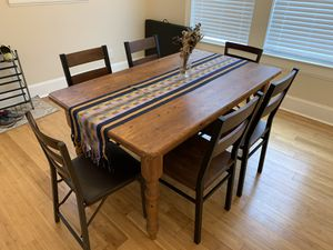 Wooden Dining Room Table, 4 chairs for Sale in Durham, NC