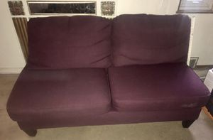 Bauhaus purple sectional couch & lounge chair for Sale in Columbus, OH