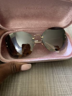 Miu Miu Sunglasses Worn Once for Sale in Greensboro, NC