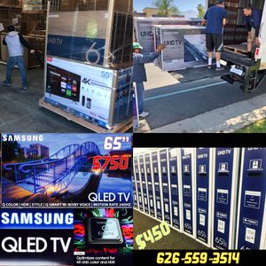 Tv outlet open to the public Samsung QLED 4K curved SUHD HDR quantum dot Sony LG OLED sharp Vizio 50 inch 55 inch or 60 inch 65 inch 70 inch 75 inch for Sale in Los Angeles, CA