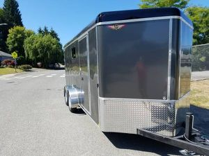 2019 H&H Enclosed Trailer / Toy Hauler 7' X 16' Plus Vee Nose for Sale in Snohomish, WA
