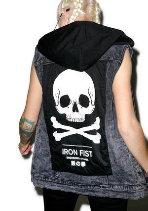 IRON FIST engineered apparel denim vest for Sale in Richmond, CA